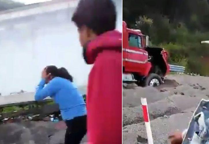 Los hechos ocurrieron en una rampa de emergencia,  en la carretera Puebla-Veracruz. (Sinembargo)