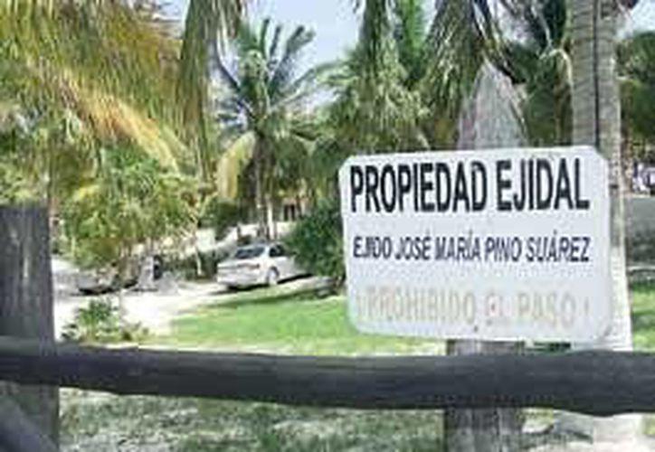 Comuneros y particulares pelean la propiedad costera desde hace más de 20 años. (Rossy López/SIPSE)