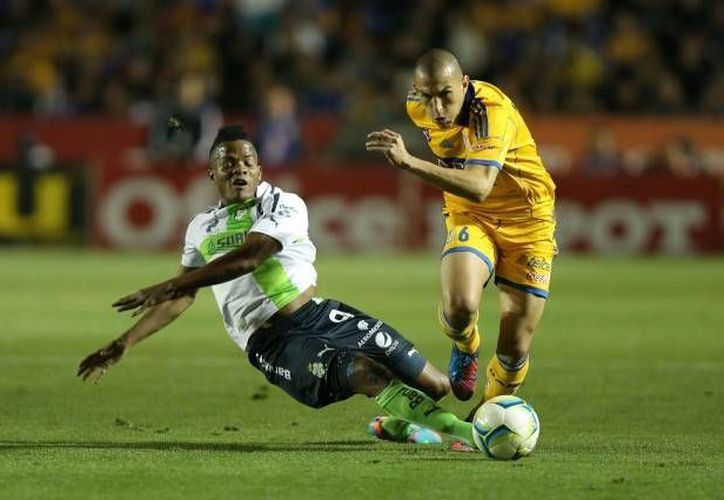 Tigres desaprovecha su condición de local y empata a un gol con Santos Laguna. (tigres.com.mx)