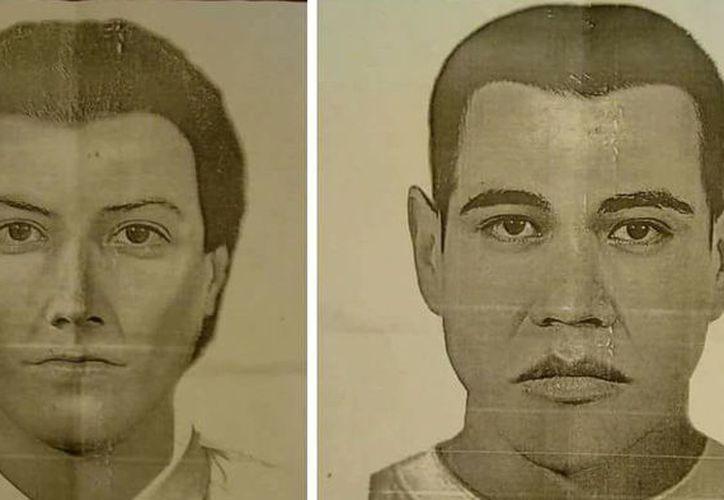 La policía de Cancún ha distribuido los retratos hablados de los supuestos taxistas. (Redacción)