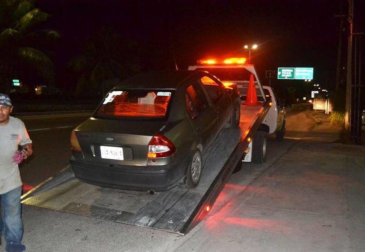 El conductor responsable del choque fue detenido y su vehículo trasladado al corralón. (Redacción/SIPSE)
