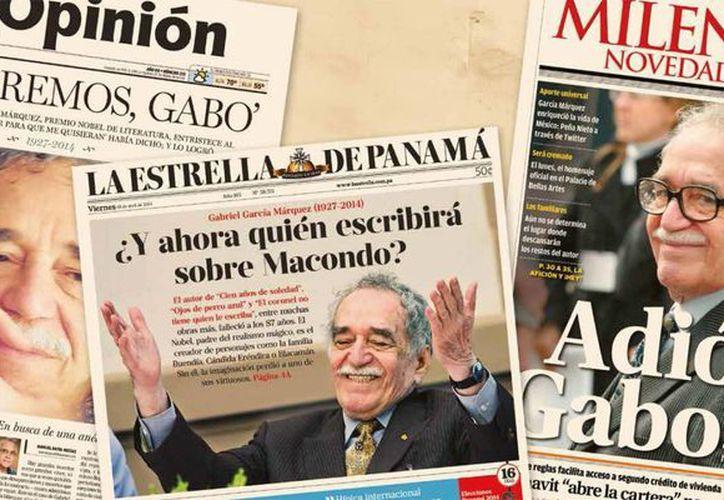 """La portada de Milenio Novedades del 18 de abril de 2014 aparece en la página 99 del libro homenaje del BID """"Gabo tiene quien le escriba"""", presentado el jueves 16 de julio de 2015. (Foto tomada del PDF del libro del BID)"""