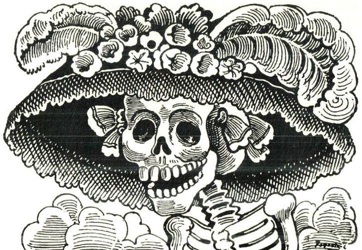 La Catrina, elegante y coqueta calaca, creada por José Guadalupe Posada, identifica a México ante el mundo. (Agencias)