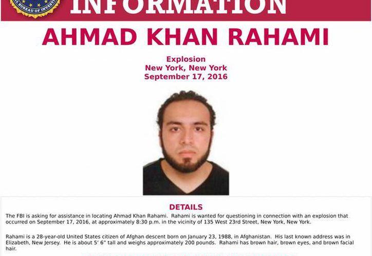El alcalde de NY dijo que Ahmad Khan Rahami podría estar armado y peligroso. (FBI via AP)