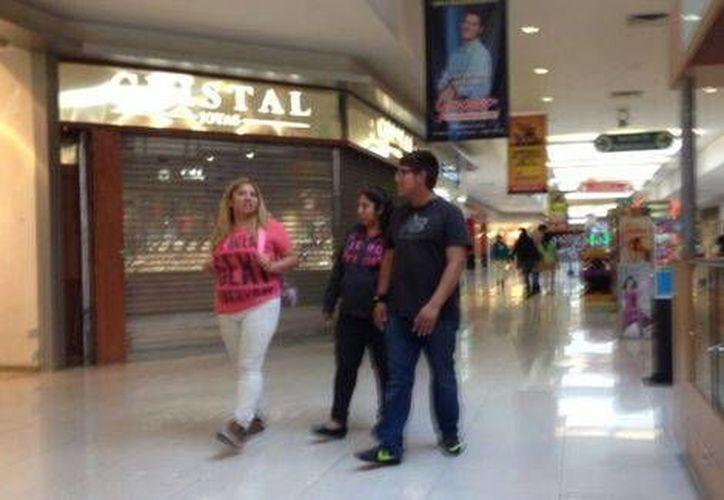 La Joyería Cristal que asaltaron se encuentra en el centro comercial Gran Sur, en Periférico. (Jorge Becerril/Milenio)