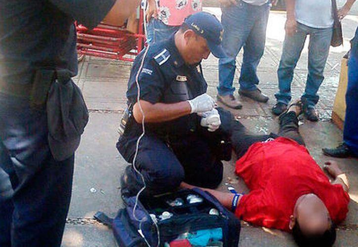 Hombre no resistió el piquete de una abeja, y fue llevado al hospital, este viernes, en Mérida. (Milenio Novedades)