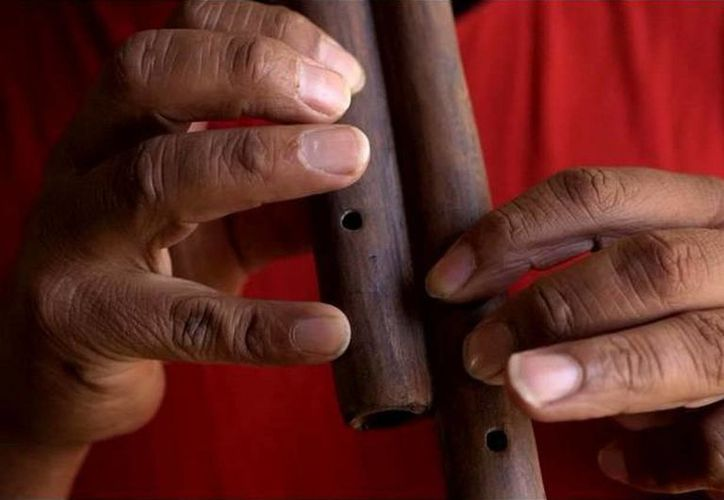 Los instrumentos de la agrupación Humbtaz estarán expuestos en el Museo  Maya Santa Cruz Xbaalam Naj. (Cortesía)