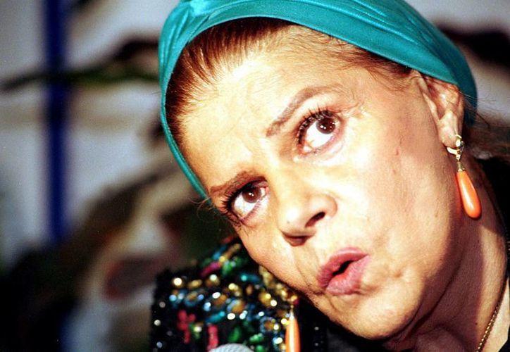 Ninón Sevilla,  icono del llamado Cine de Rumberas, se recupera en un hospital de la Ciudad de México de una neumonía. (Notimex)