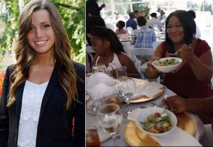 La joven no quiso que la comida fuera desechada y decidió invitar a varios albergues. (Internet)