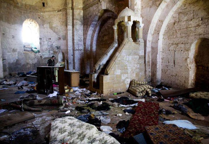 Imagen de la Capilla en Crac des Chevaliers, el castillo medieval de las Cruzadas que era el mejor conservado del mundo, en Siria. (Agencias)