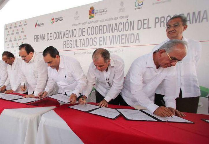 Los convenios representan una inversión de 158 millones 834 mil 677 pesos. (Redacción/SIPSE)