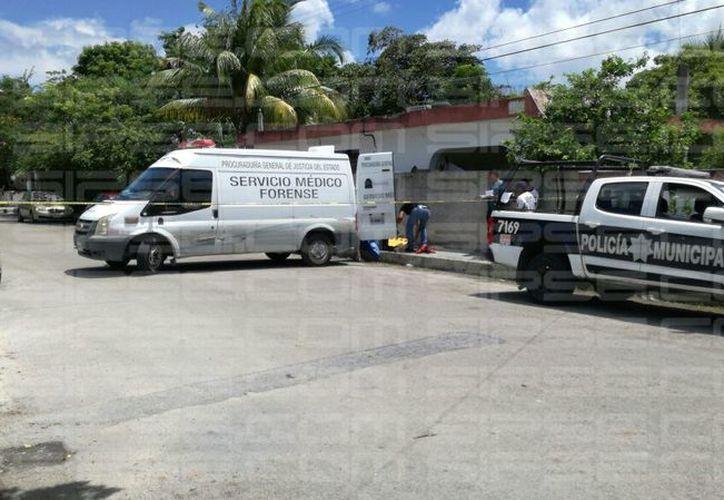 La zona fue acordonada por las autoridades. (Adrián Puc/ SIPSE)