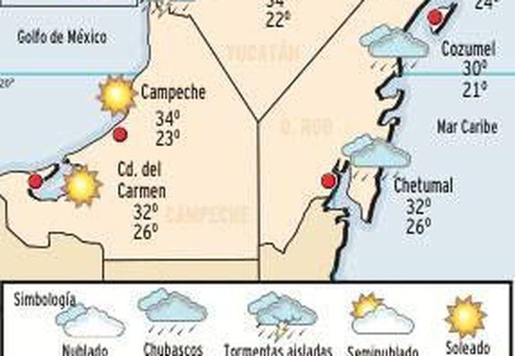 La mínima será de entre 22 y 24 grados centígrados. La sensación térmica al mediodía será de 39. (Redacción/SIPSE)