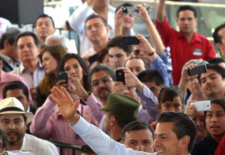 El presidente de México, Enrique Peña, durante un evento en San Luis Potosí, la semana pasada. (Archivo/Notimex)