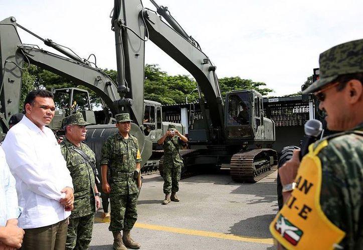El evento de bienvenida a los ingenieros de combate se realizó en la zona militar. (Cortesía)