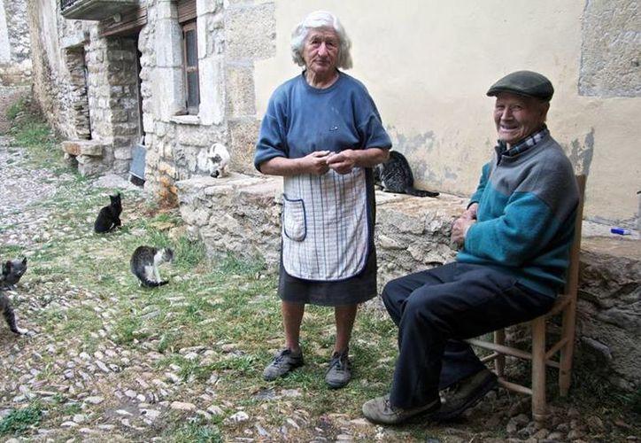 Sinforosa Sancho y Juan Martín Colomer son las únicas personas que viven en La Estrella. (heraldo.es)