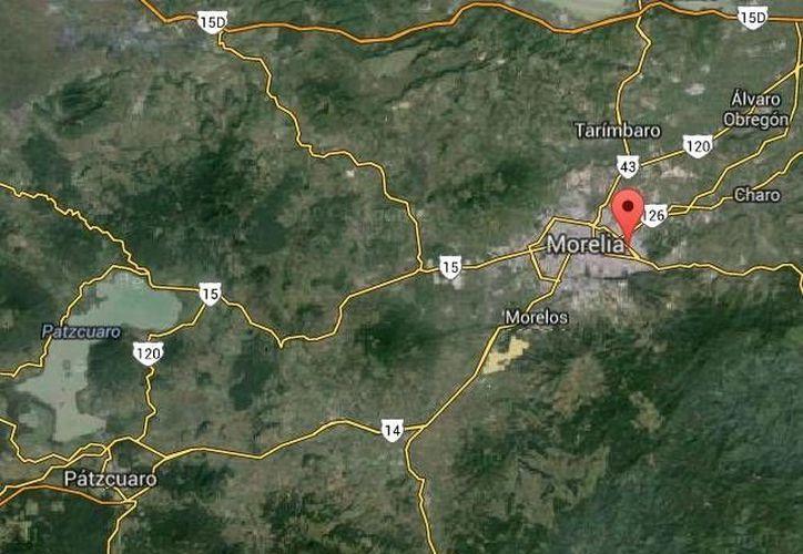 El laboratorio con droga sintética o cristal fue localizado en la comunidad de La Escalera, en el municipio de Charo, Morelia. (Google Maps)
