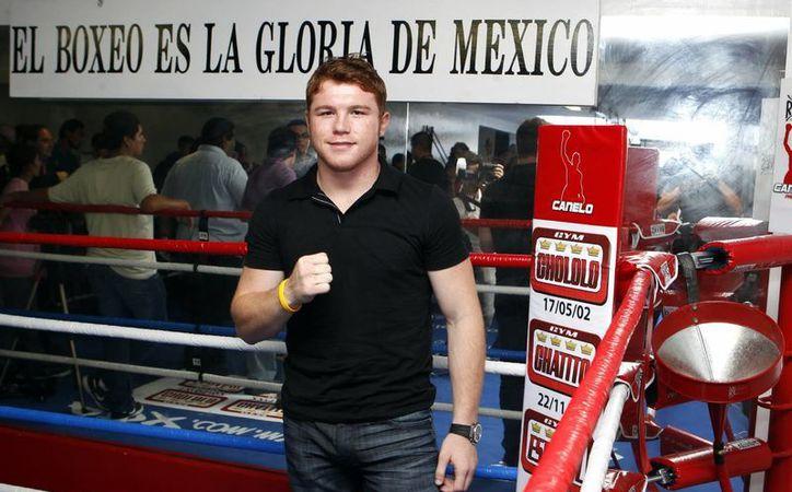 """El púgil mexicano Saúl """"Canelo"""" Álvarez, campeón de peso súper welter del Consejo Mundial de Boxeo. (Archivo/EFE)"""