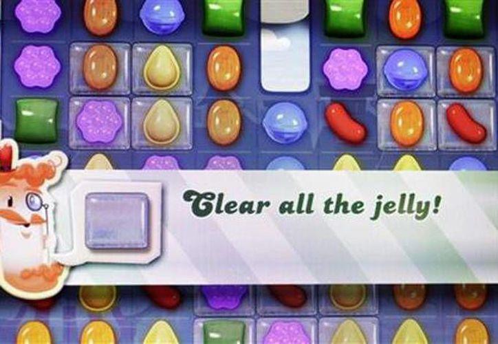 """Un detalle del juego online """"Candy Crush Saga"""" visto en la pantalla de una computadora. (Agencias)"""