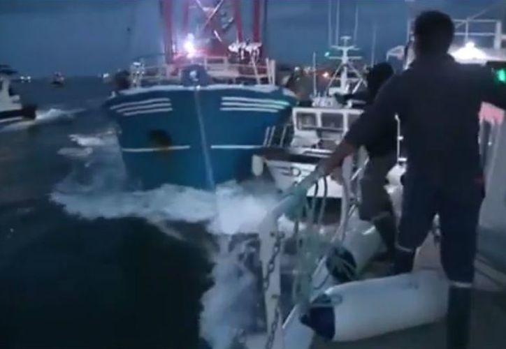 La colisión de las embarcaciones se produjo en la bahía del Sena. (24-horas.mx)