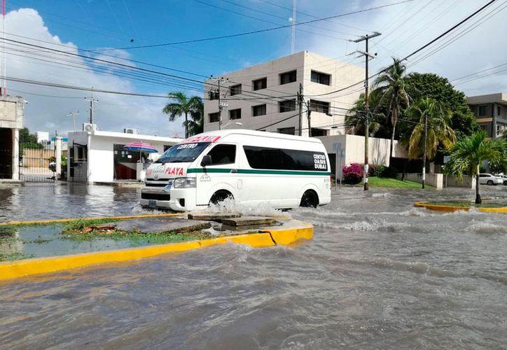 La zona centro fue de las más afectadas. (Israel Leal/SIPSE)
