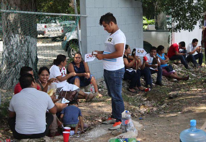 Integrantes del Congreso Agrario Campesino, dijeron estar listos para actuar en caso de que no les cumplan con la dotación de frijol. (Joel Zamora/SIPSE)
