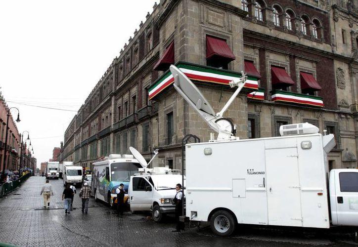 El Palacio Nacional está fuertemente custodiado. (Notimex)