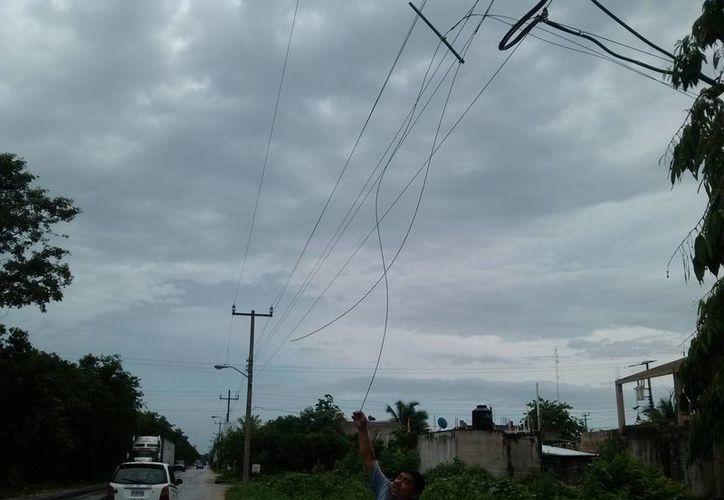 Esta es la cuarta vez que se roban cables del alumbrado público en Tulum.  (Rossy López/SIPSE)