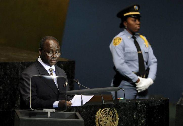 Francois Bozize durante su participación en una Cumbre de la ONU en septiembre de 2010. (EFE/Archivo)