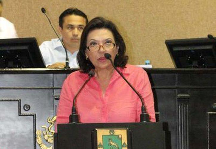 La diputada panista Sofía Castro Romero reiteró el rechazo de su bancada a la aprobación de cuentas públicas. (SIPSE)