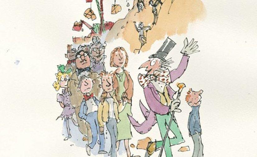 Una de las ilustraciones de Sir Quentin Blake del capítulo inédito de Charlie y la fábrica de chocolate. (Sir Quentin Blake/theguardian.com)