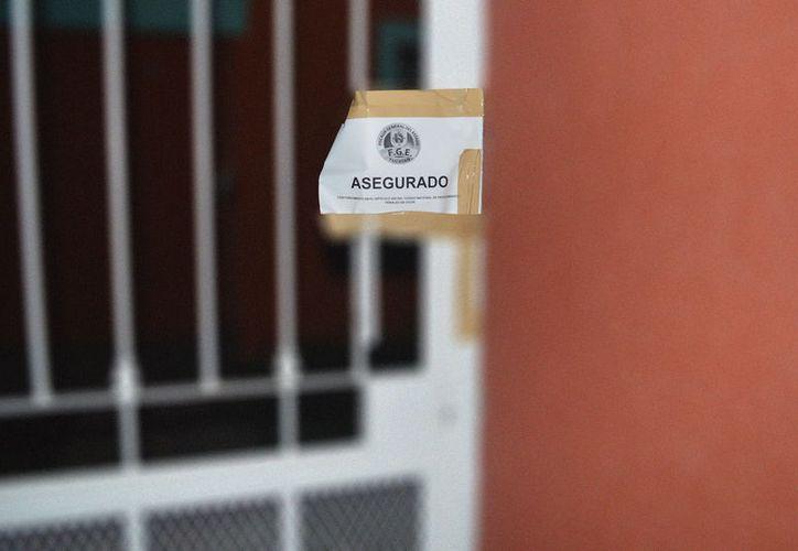 La policía aseguró un predio en donde se sospecha que un hombre abusó de varios niños, en Kanasín. (Carlos Navarrete/SIPSE)
