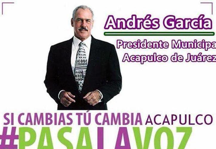 El actor Andrés García fue lanzado como candidato a la alcaldía de Acapulco por el Partido Humanista.(@Andres_GarciaOf)