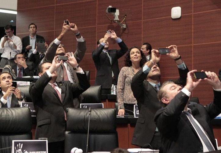 Aspecto de la sesión en el Pleno del Senado (Notimex)