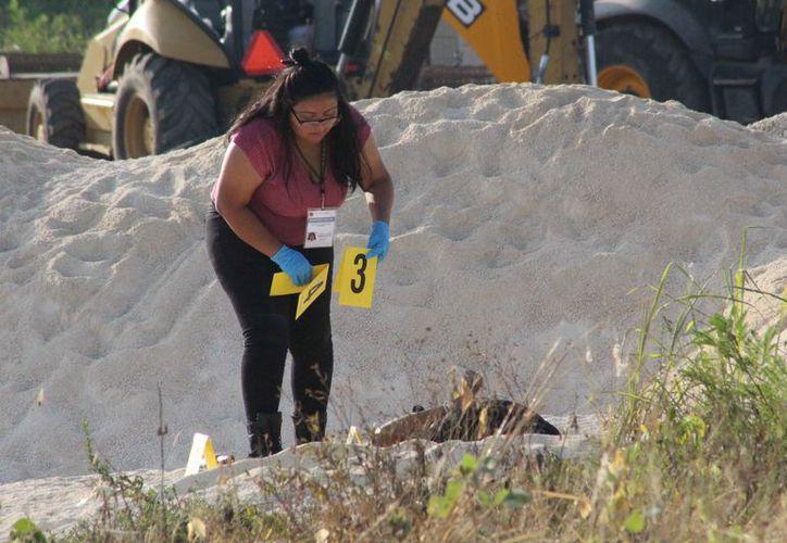 El cuerpo fue hallado en un predio donde se guarda materiales de construcción. (Redacción/SIPSE)