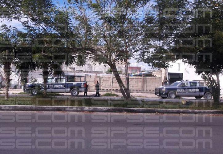 La zona fue acordonada por las autoridades. (Luis Hernández/ SIPSE)