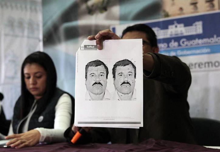 """Detalle del retrato del narcotraficante Joaquín """"El Chapo"""" Guzmán realizado por la PGR. (EFE/Archivo)"""