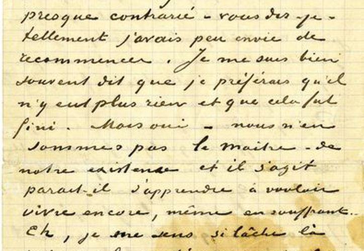 Esta carta fue escrita por Van Gogh, siete meses antes de su muerte, a sus amigos Monsieur y Madame Ginoux. (Agencias)