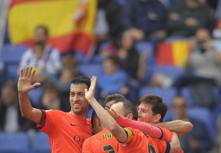 En sólo 25 minutos, el Barcelona resolvió el encuentro. (Foto: AP)
