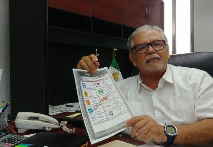 Consejero Electoral y Presidente de la Comisión de Cultura Política, Luis Carlos Santander Botello. (Foto: SIPSE)