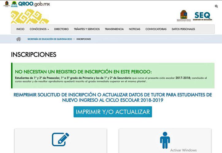 Quedó habilitado de nueva cuenta el sitio en internet de la SEQ. (Jesús Tijerina/SIPSE)