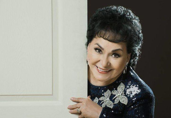 Carmen Salinas dijo que se ha encomendado a Dios para que no le pase nada. (facebook.com/carmensalinaslozanooficial)