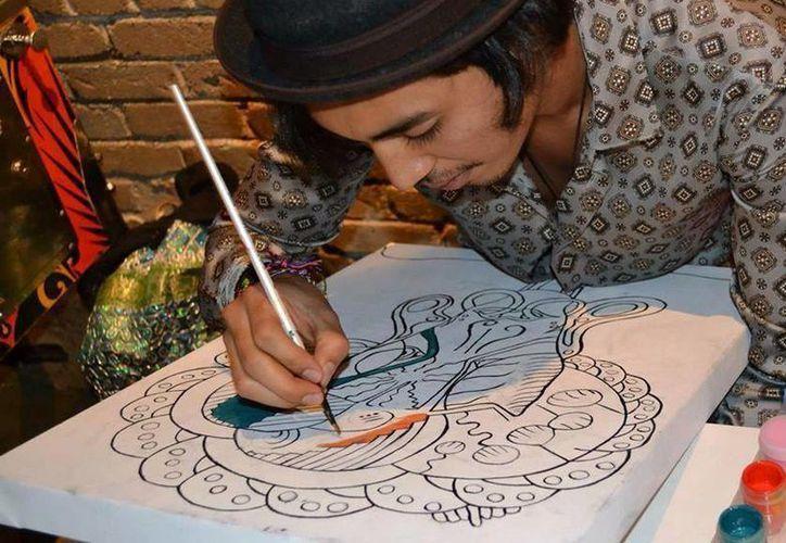 Cuauhtémoc Trejo participará en la exposición pictórica del festival. (Cortesía/SIPSE)
