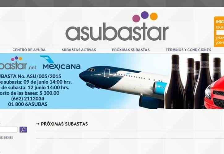 La subasta de los bienes de Mexicana de Aviación se realizará del 9 al 12 de junio de 2015 en la página www.asubastar.net. (asubastar.net)
