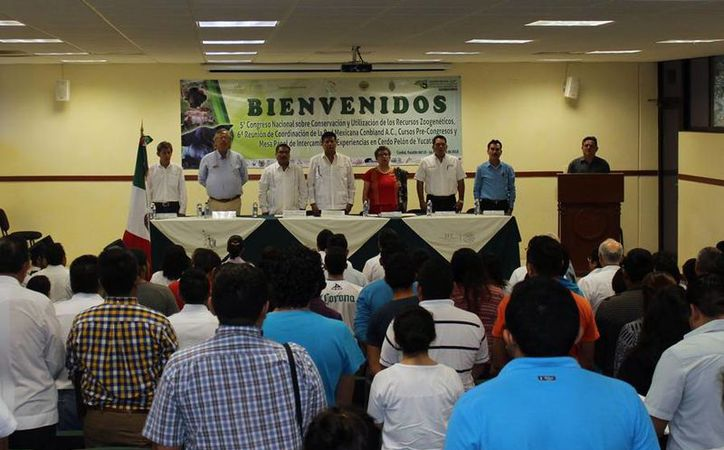 Este jueves se inauguró Inicia V Congreso Nacional Sobre Conservación y Utilización de los Recursos Zoogenéticos, en Yucatán. (Cortesía)