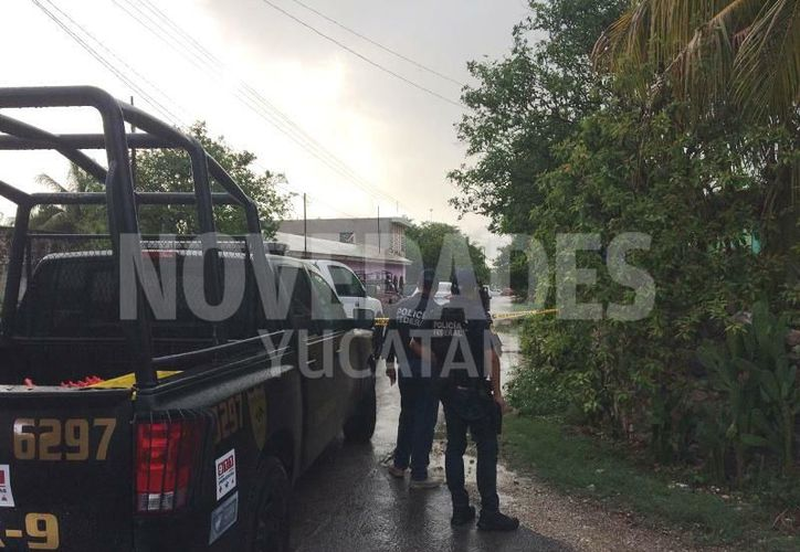Un convoy de aproximadamente 10 unidades llegó a San Roque en Motul. (Novedades Yucatán)