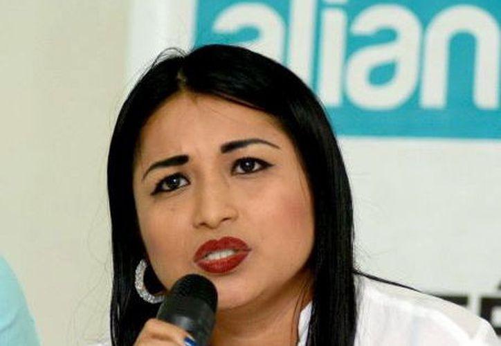 Natalia Mis, ex alcaldesa de Tinum.