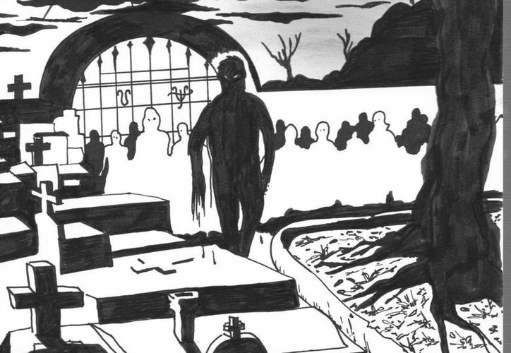 """Pobladores de Hocabá aseguran que han visto el fantasma de Juan """"El ahorcado"""" colgado de un árbol o deambulando por el cementerio. (Jorge Moreno/SIPSE)"""