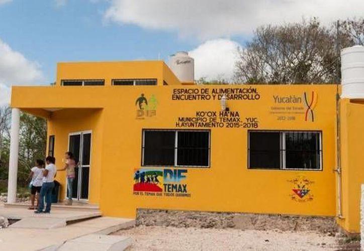 Fachada del nuevo espacio de alimentación del DIF Yucatán, ahora en Temax. (twitter.com/DIF_Yucatan)