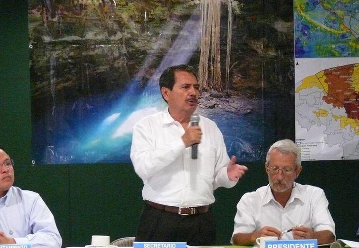 El director del OCPY de la Conagua, Roberto Pinzón Álvarez, encabezó la Primera Sesión Ordinaria del Comité Técnico de Aguas Subterráneas para la Zona Metropolitana de Mérida. (Cortesía)